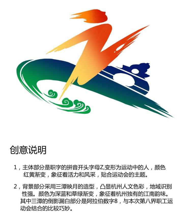 """""""杭州市第八届职工运动会""""会徽出炉,酷不酷图片"""