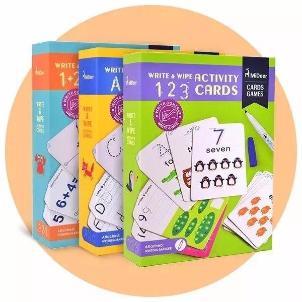 如何用1张卡片,教会孩子字母,数字,加减法?