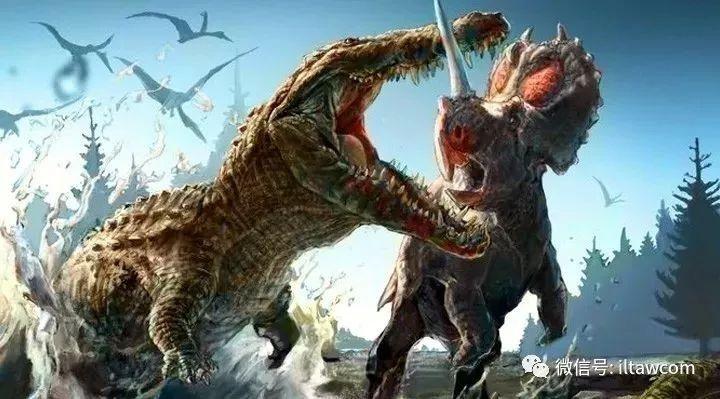 以大型恐龙为食的鳄鱼-恐鳄