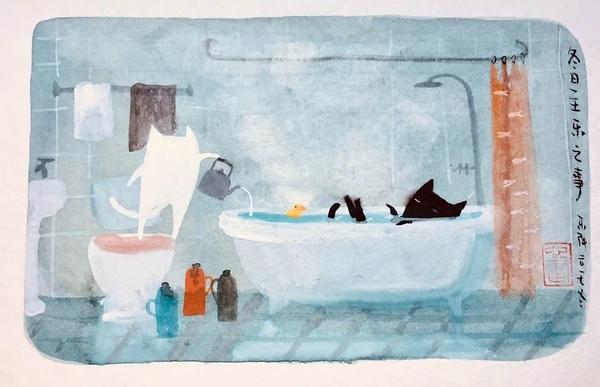 【山舍有猫】- 张乐陆西湖创意空间猫生画展