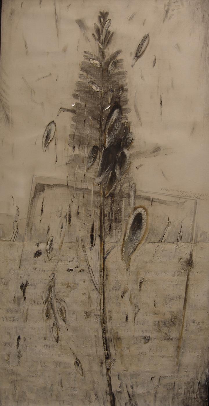 献给艾略特 王凯 71X104cm 综合绘画 2010年 私人收藏.JPG