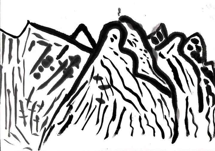 10倪泽宇《山语》42cmX30cm 国画.JPG