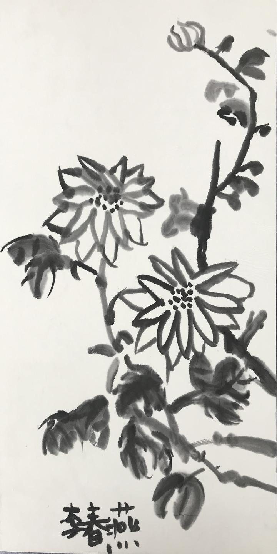 11李春燕《花语》60cmX33cm 国画.JPG