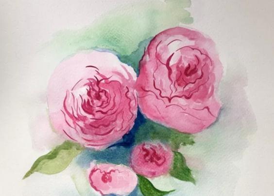 满架蔷薇一院香|画一幅蔷薇花