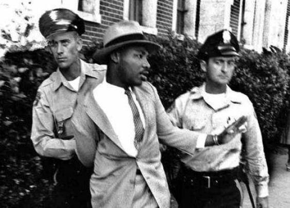 1958年,马丁·路德·金被捕。