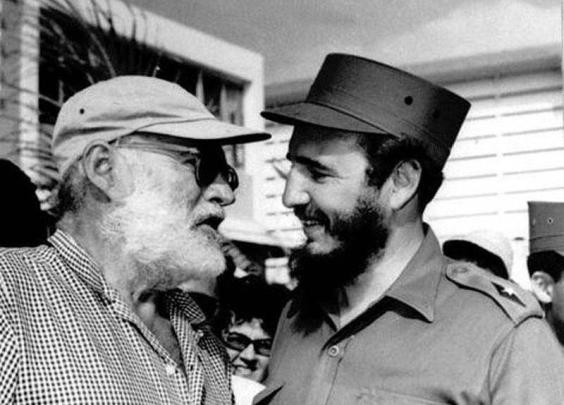 1959,海明威和卡斯特罗。