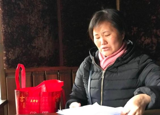 蔡仙英来衢接洽移监救女:乞讨也要救女