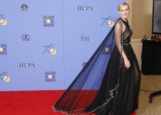 本届金球奖最美红毯女星非Diane Kruge...