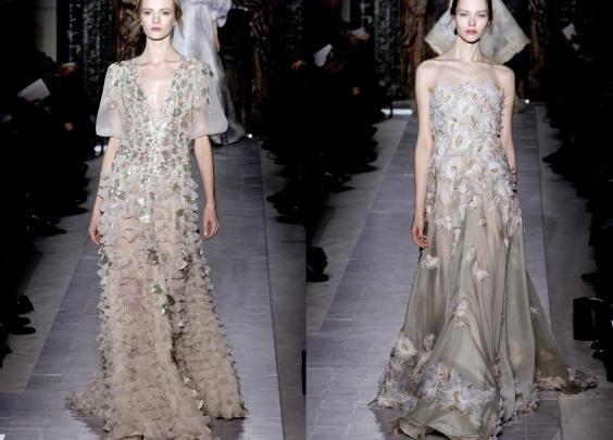 Valentino Couture Spring 2013,欧根纱,绣花,蕾丝
