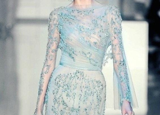 Elie Saab的礼服简直就是冰雪皇后的最佳代言!