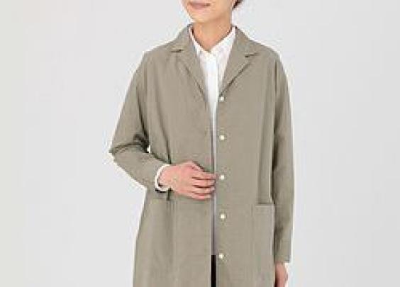 209丨无印良品  女式棉水洗切斯特大衣