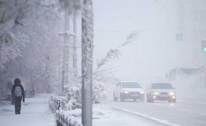 俄罗斯雅库特遭遇-65℃极寒