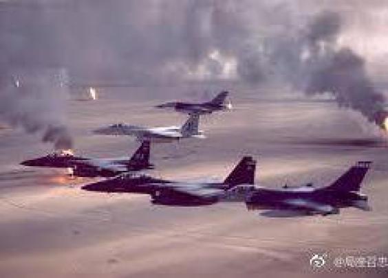 """27年前的今天,美国发动了对伊拉克的""""沙漠风暴..."""