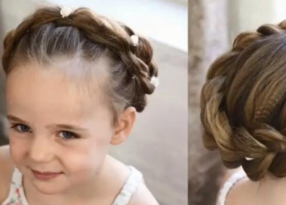 幼儿园里红极一时的花环头发型,原来这么容易扎呀