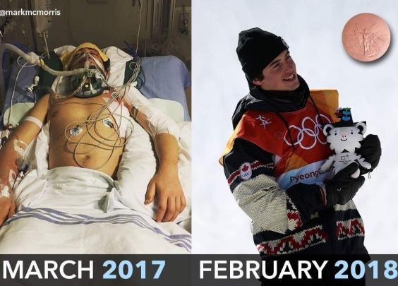 11个月前差点死掉,现在他站上平昌冬奥领奖台