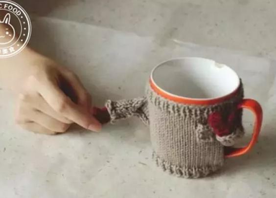 毛衣外观的马克杯,看着就好暖