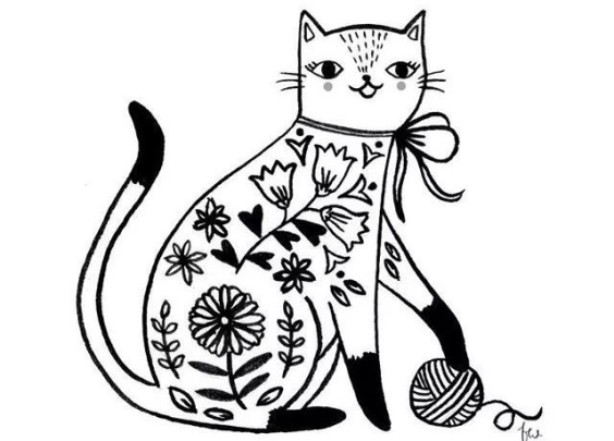 简笔小素材一波可爱的猫咪