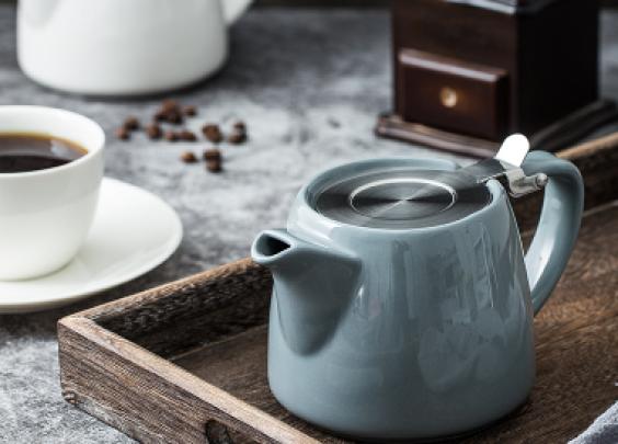 ¥65. 北欧小型红色陶瓷家用咖啡壶