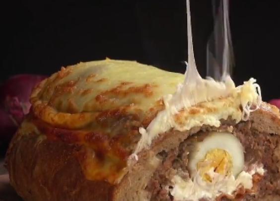奇葩德国料理,假兔肉面包