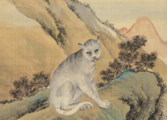 清乾隆,余省、张为邦,兽谱图册之朏朏页。