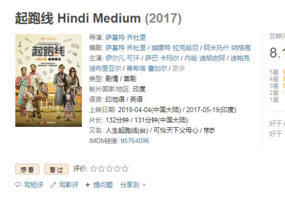 8.1 起跑线 Hindi Medium