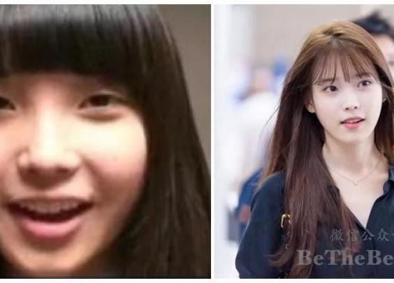 从左图到右图,国民妹妹IU是如何一步步聪明变美的?