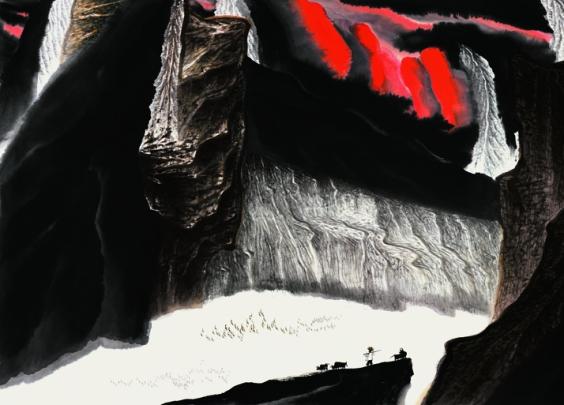 贾又福山水画工作室师生优秀作品展在浙江美术馆开幕